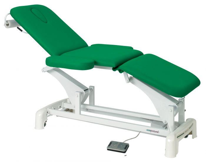 Ecopostural 3 section electric table, with armrests C3536