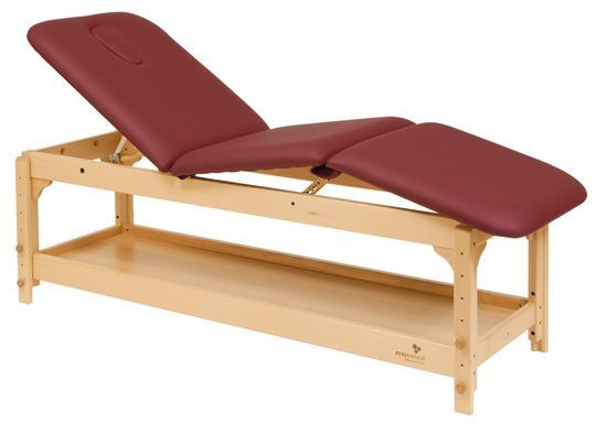 Ecopostural adjustable height wooden massage table C3229