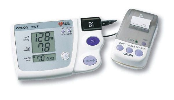 Omron 705 CPII upper arm digital blood pressure monitor