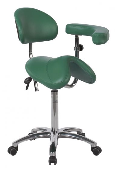Ecopostural PONY saddle stool with chromium-plated base Ecopostural S5664