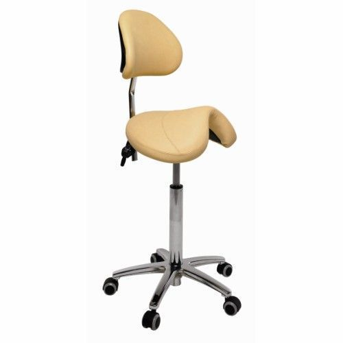 Ecopostural PONY saddle stool with chromium-plated base Ecopostural S3631
