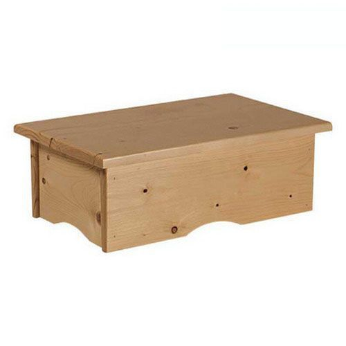 Single wooden Step Stool Ecopostural A4412