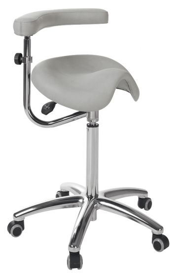 Ecopostural DERBY stool with chromium-plated base and backrest Ecopostural S5673