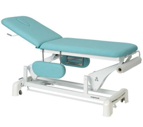 Ecopostural 2 section electric table with arm rests C3554