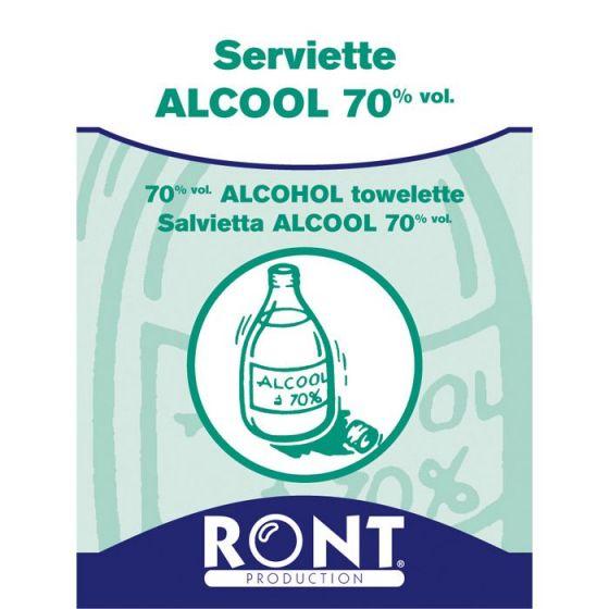 70% vol alcohol towelette Ront 23060, 100 pieces pack