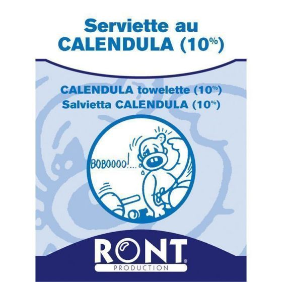 Calendula towelette Ront, 100 pieces pack