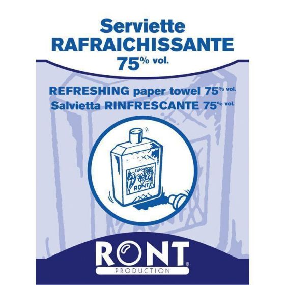 Refreshing paper towel 75% vol Ront 23050, 100 pieces pack