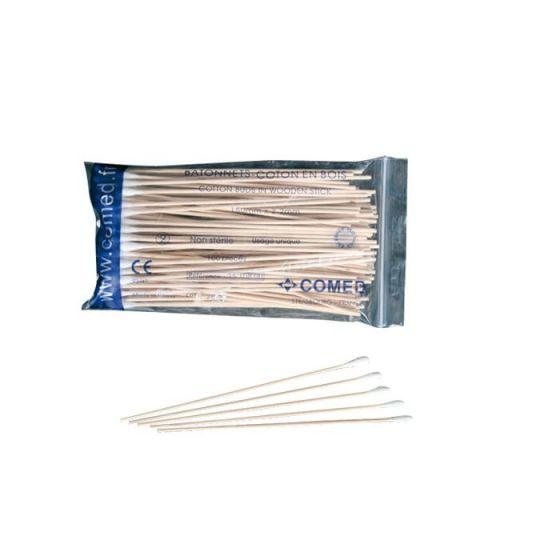 wooden swabs stick  Comed bag of 100