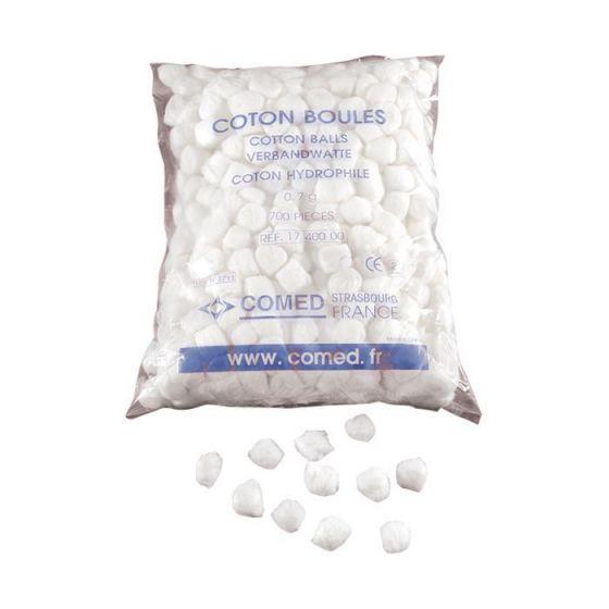 Absorbent cotton balls Comed bag of 700