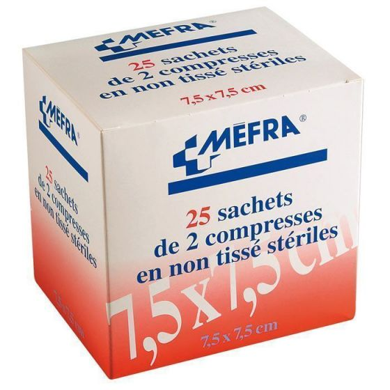 1 Box nonwoven sterile compresses 3M MEFRA