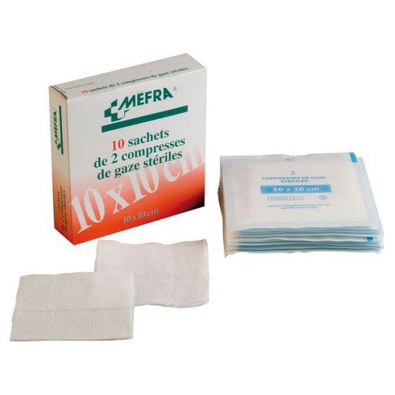 1 Box of sterile gauze compresses 3M MEFRA