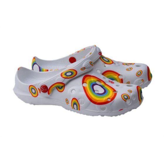 Rainbow  women's Globule clogs