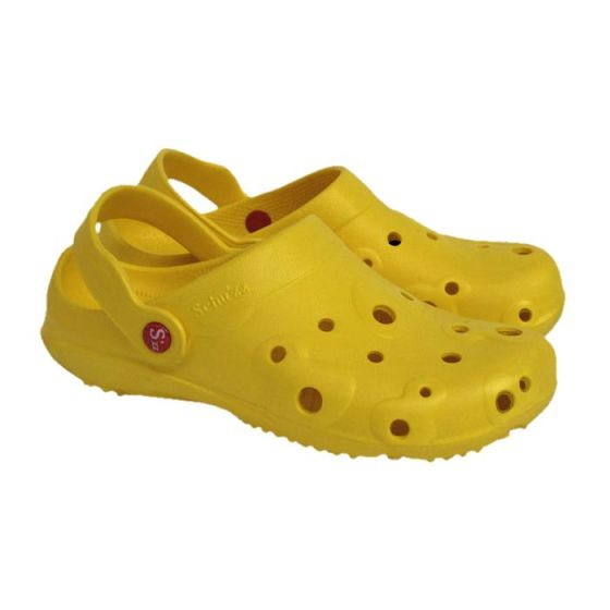 Yellow men's Globule clogs