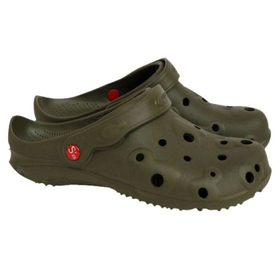 Dark green men's Globule clogs