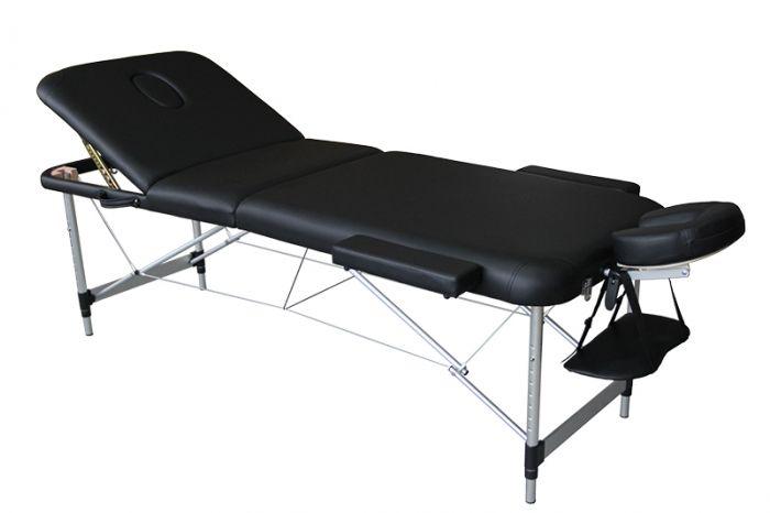 Folding Massage Table in 3 parts Mediprem Eco Pro Alu Black